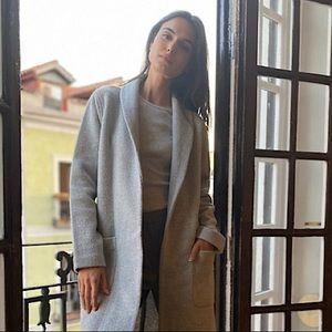 Babaton Luxe Lounge Jacket - Grey Soft Wool XS